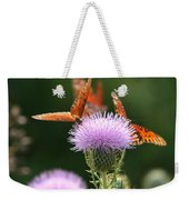 Fritillary Wings And Thistles Weekender Tote Bag