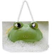 Frog In The Bath  Weekender Tote Bag