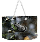 Frog In The Millpond Weekender Tote Bag