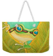 Frog Peeking Out Weekender Tote Bag