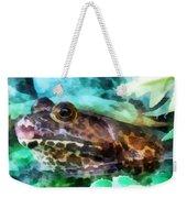Frog Ready To Be Kissed Weekender Tote Bag by Susan Savad