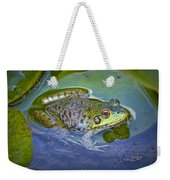 Frog Resting On A Lily Pad Weekender Tote Bag