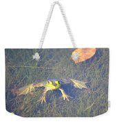 Froggie Sitting In The Water Weekender Tote Bag