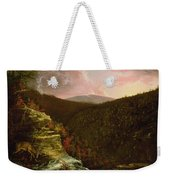 From The Top Of Kaaterskill Falls Weekender Tote Bag by Thomas Cole