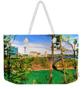 From Usa To Can Over The Rainbow Bridge Weekender Tote Bag