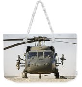 Front View Of A Uh-60l Black Hawk Weekender Tote Bag by Terry Moore