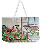 Front Yard Lights Sketchbook Project Down My Street Weekender Tote Bag by Irina Sztukowski
