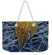 Frost On An Aspen Leaf Weekender Tote Bag