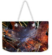 Frosted Fall Weekender Tote Bag