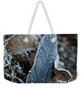 Frosted Feather Weekender Tote Bag