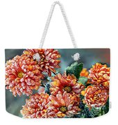 Frosted Mums Weekender Tote Bag