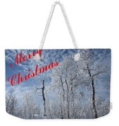 Frosted Trees Christmas Weekender Tote Bag