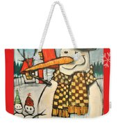 Frosty Family Poster Weekender Tote Bag