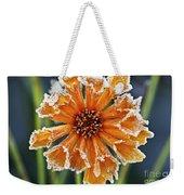 Frosty Flower Weekender Tote Bag
