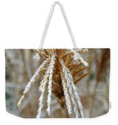 Frosty Fountain Grass Weekender Tote Bag