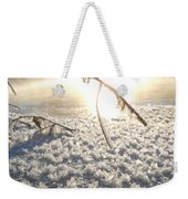 Frosty Ice At Sunrise Weekender Tote Bag