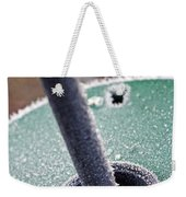 Frosty Metal Weekender Tote Bag