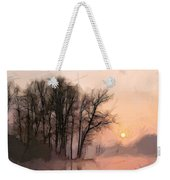 Frosty Morning At The Lake Weekender Tote Bag