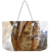 Frosty Tiger Lily Seed Pod Weekender Tote Bag