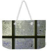 Frosty Window Pane Weekender Tote Bag