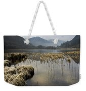 Frosty Winters Morning, Lower Lake Weekender Tote Bag