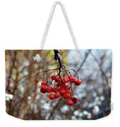 Frozen Mountain Ash Berries Weekender Tote Bag