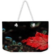 Frozen Red Leaf Weekender Tote Bag