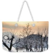 Frozen Trees Weekender Tote Bag