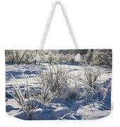 Frozen Winter Landscape Weekender Tote Bag
