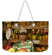 Fruit Market Stand Weekender Tote Bag by Heiko Koehrer-Wagner