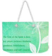 Fruit Of The Spirit Weekender Tote Bag by Linda Woods