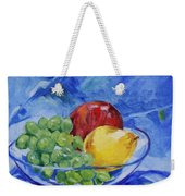Fruit On Blue Weekender Tote Bag