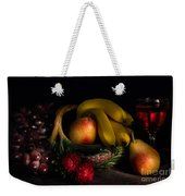 Fruit Still Life With Wine Weekender Tote Bag