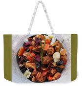 Fruity Tea With Bamboo Leaves Square Weekender Tote Bag