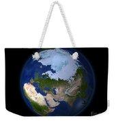 Full Earth Showing The Arctic Region Weekender Tote Bag