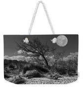 Full Moon Over Jekyll Weekender Tote Bag by Debra and Dave Vanderlaan