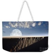 Full Moon Rising Above A Sand Dune Weekender Tote Bag