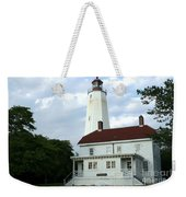 Full View Of Sandy Hook Lighthouse Weekender Tote Bag