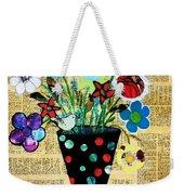 Funky Flowers Weekender Tote Bag