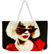 Funky Red Glasses Weekender Tote Bag