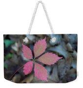 Fushia Leaf 2 Weekender Tote Bag