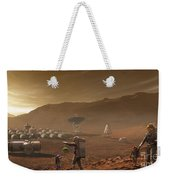 Future Mars Colonists Playing Weekender Tote Bag