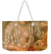 Gabrielle With Jewellery Weekender Tote Bag by Pierre Auguste Renoir