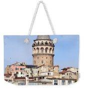 Galata Tower In Istanbul Weekender Tote Bag