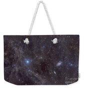 Galaxies M81 And M82 As Seen Weekender Tote Bag by John Davis