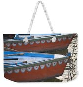Ganges River, Varanasi, India Moored Weekender Tote Bag
