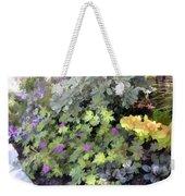 Garden Flower Border Weekender Tote Bag