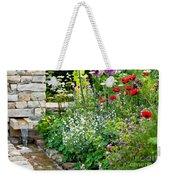 Garden Flowers With Stream Weekender Tote Bag