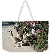 Garden Geese Parade Weekender Tote Bag