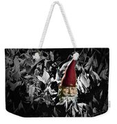 Garden Gnome With Gray Background Weekender Tote Bag